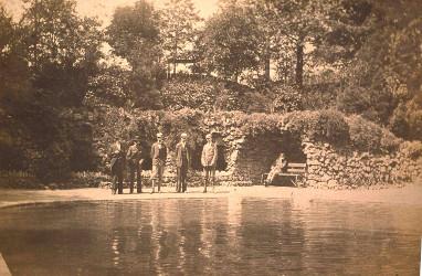 men in pool