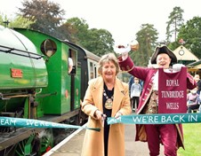 The Mayor opening the Spa Valley Railway