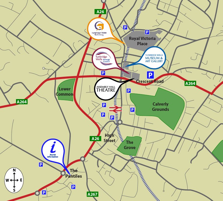 Click to open a map of the Tunbridge Wells Area