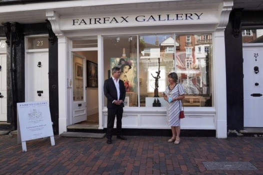 The Mayor visits the 25th anniversary exhibition at the Fairfax gallery
