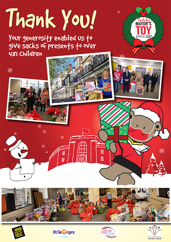 Mayor's Toy Appeal Thank You poster