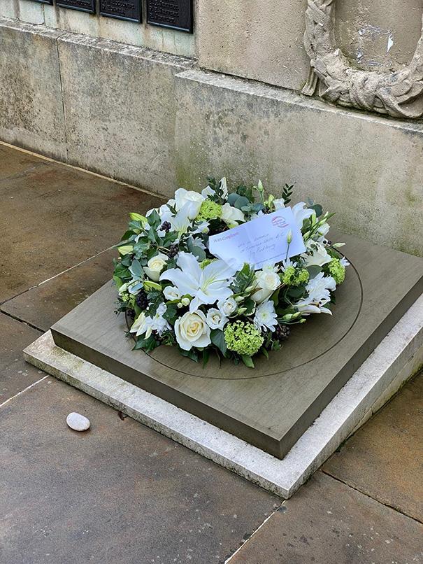 Holocaust Memorial Day wreath