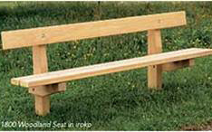 Picture of a woodland seat bench