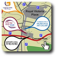 Map of Tunbridge Wells clickable icon