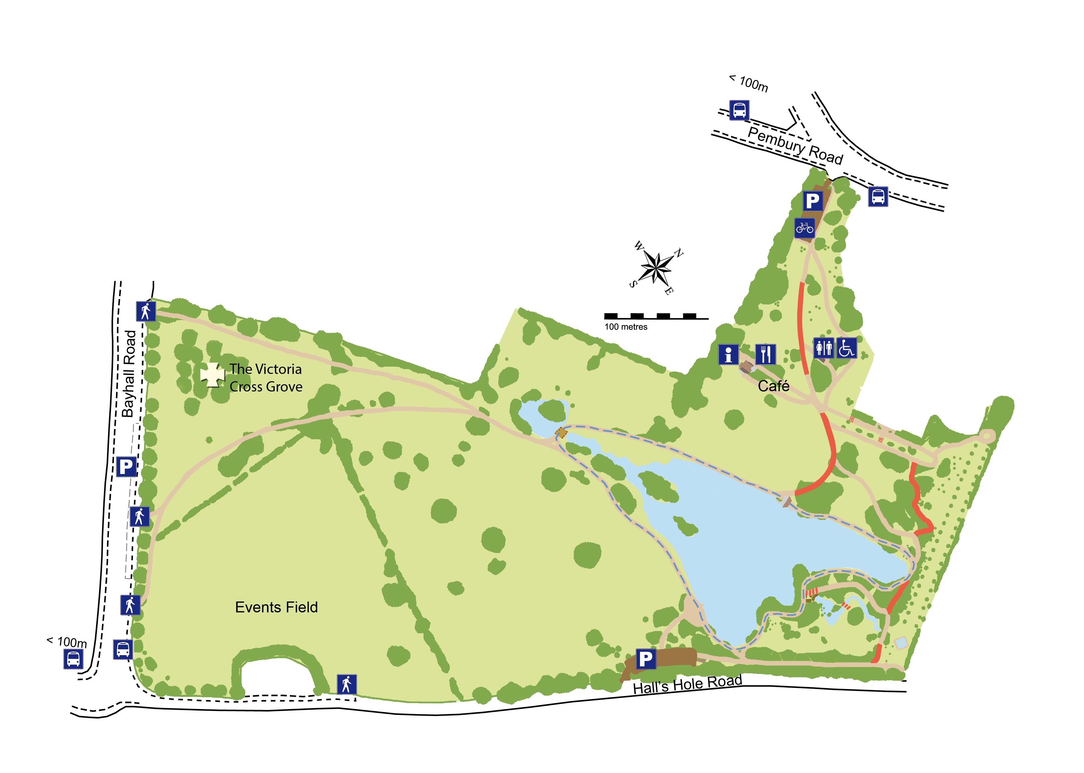 Victoria Cross Grove location map