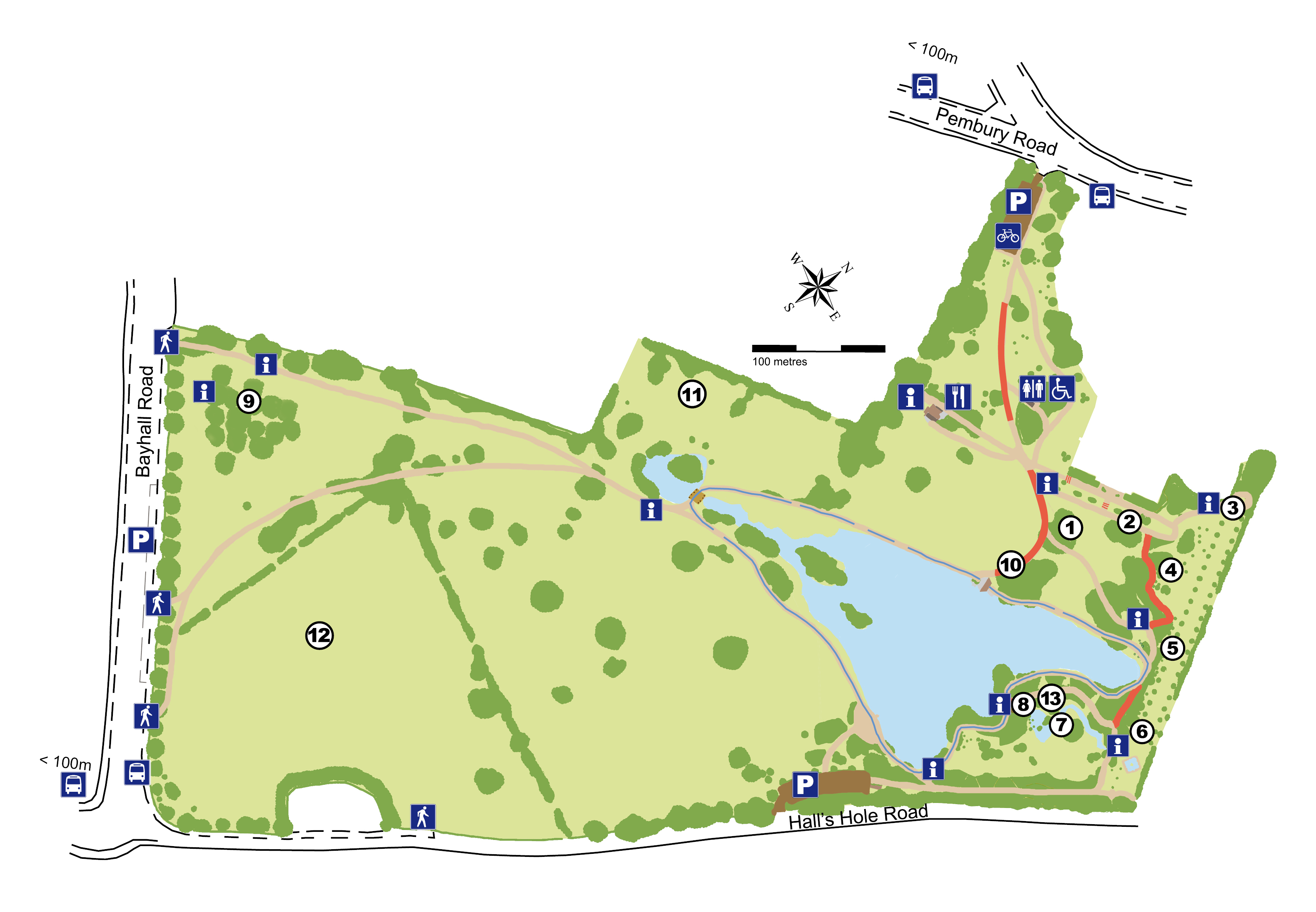 Dunorlan Park attractions map