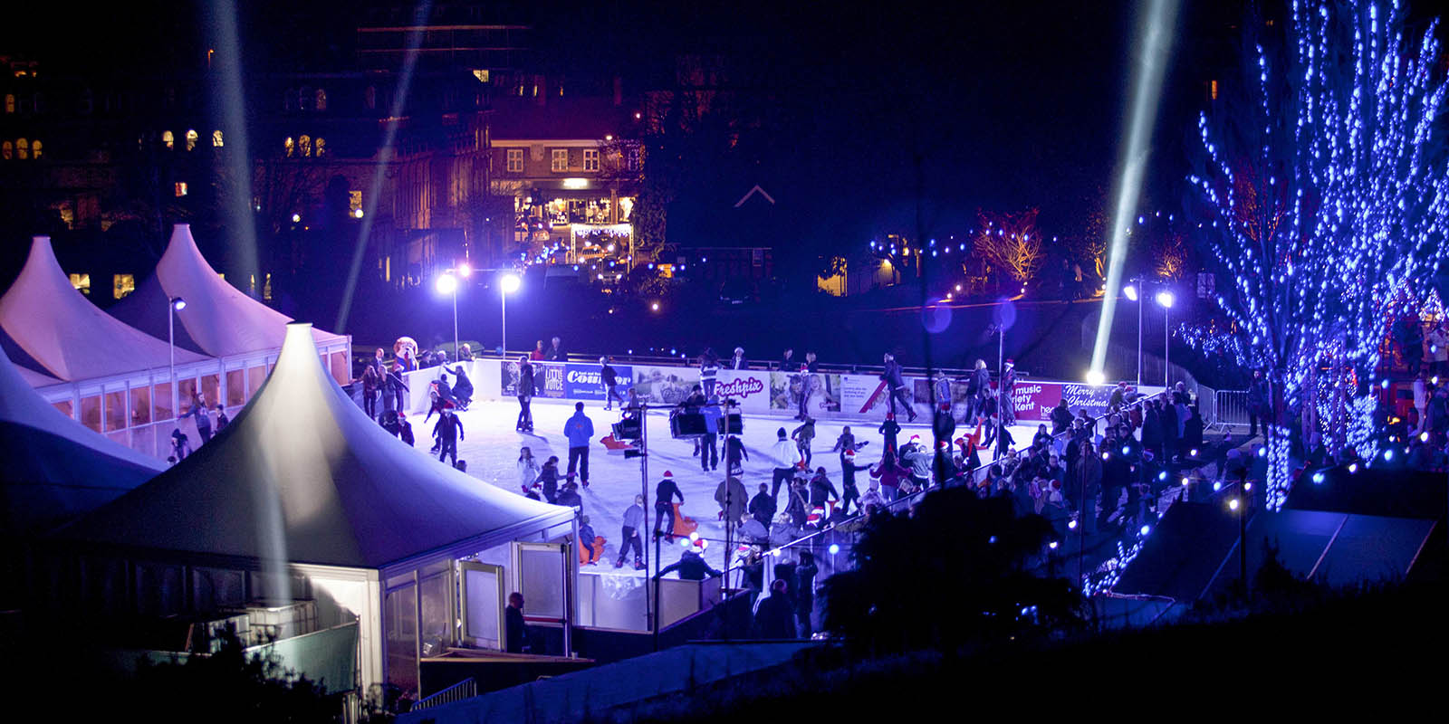 Tunbridge Wells Ice Rink at night