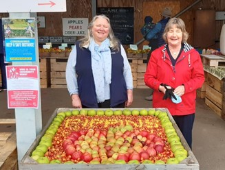 Carol and Joy at the Apple Pressing Weekend