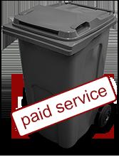 Black - garden waste bin