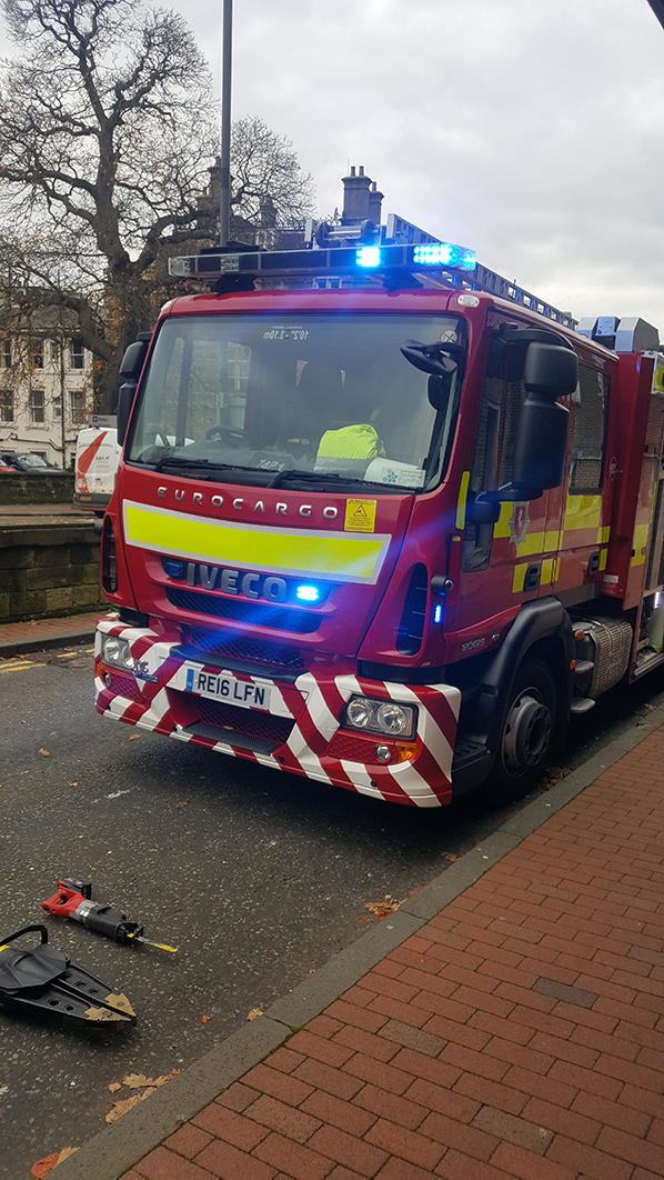 Arriving at the theatre, and at the school, the children were greeted by Kent Fire and Rescue Service
