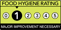 Food hygiene rating scheme score one