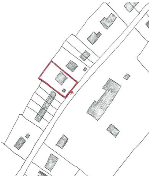 Where an application site is only adjoined by properties to either side, and with properties to the front, one site notice will be placed at the site frontage.
