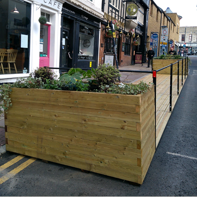 Image showing a planter in a high street