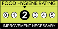 Food hygiene rating scheme score two
