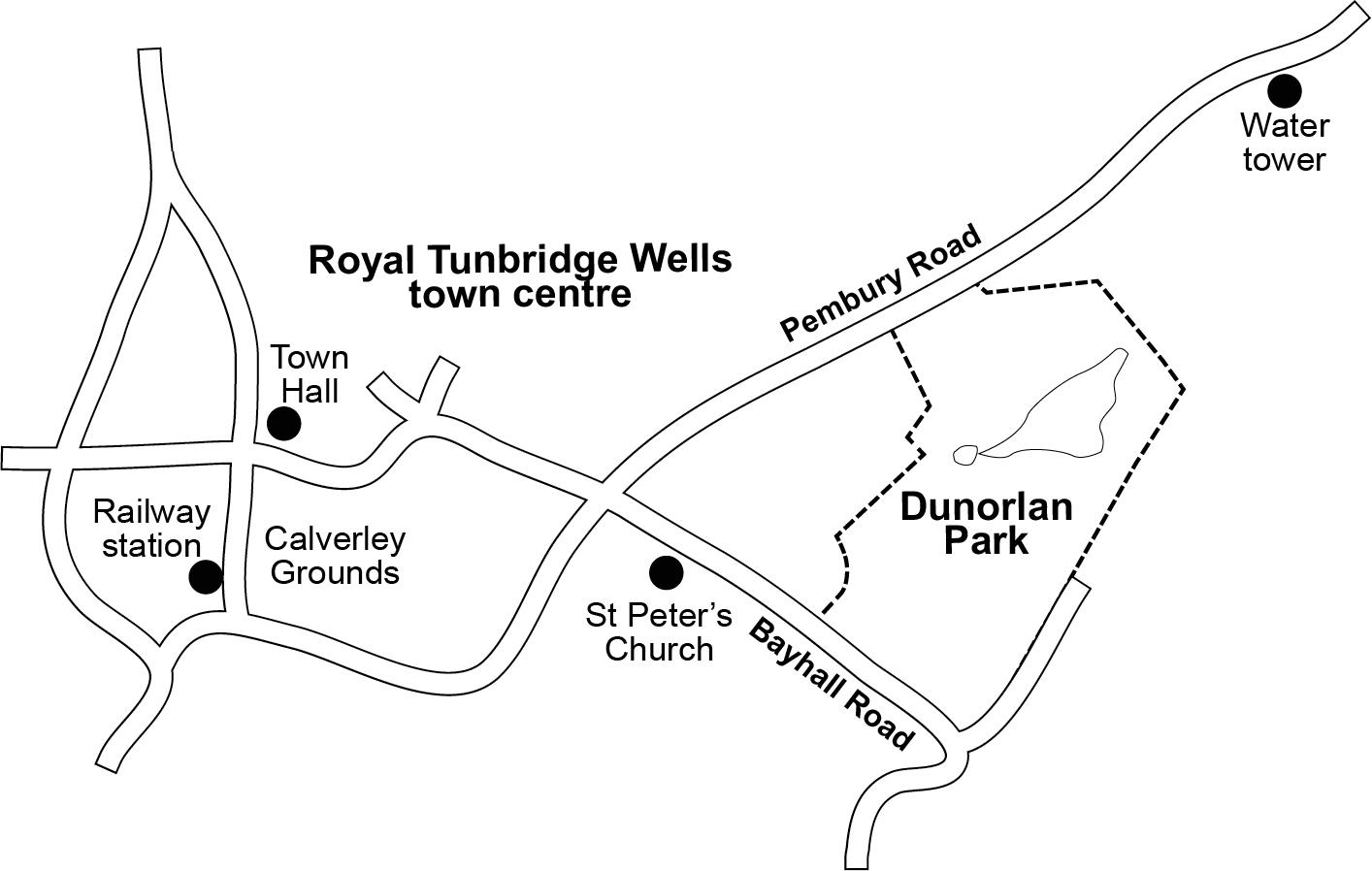 Location of Dunorlan Park