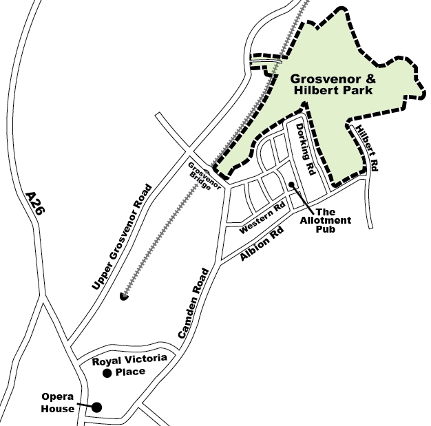 Grosvenor Hilbert location map
