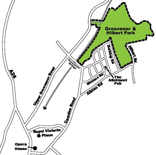 Grosvenor Hilbert location map