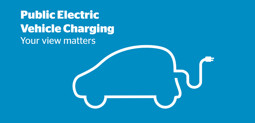 An electric vehicle being charged.