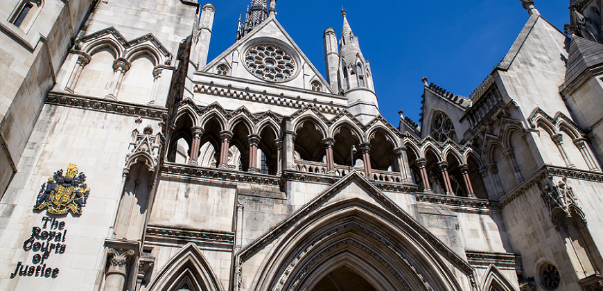 Picture of the High Court in London