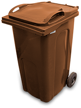 Brown - recycling bin