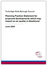 Planning Position Statement for proposed developments which may impact on air quality in Hawkhurst document cover - click to download
