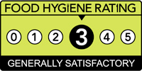 Food hygiene rating scheme score three