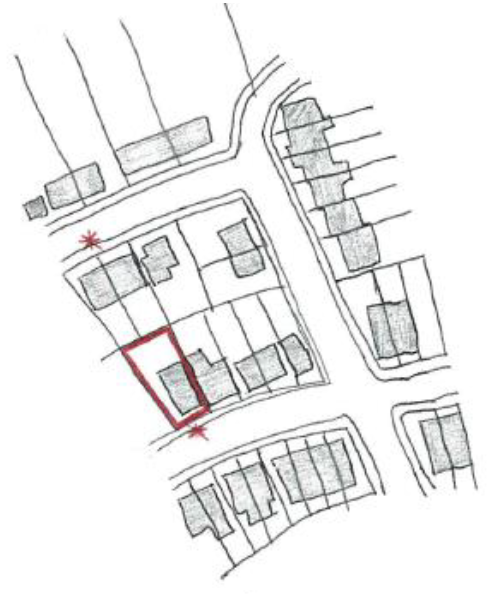 Where there is a road which runs parallel to the road on which the application site is located, and there are properties to the rear of the application site, site notices will be placed on both roads.