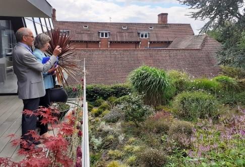 The Mayor judging Tunbridge Wells in Bloom entries