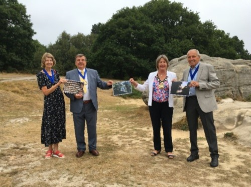 The Mayor on the common, to celebrate the Commons Conservators photographic prize winners