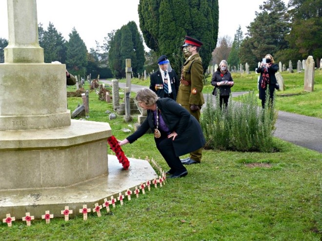 Wreath Laying at the VC Grove