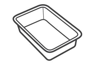 Plastic food trays & punnets, not black (eg meat/ready meals/fruit/veg)