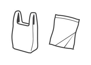 Plastic bags / plastic pouches (eg pet food)