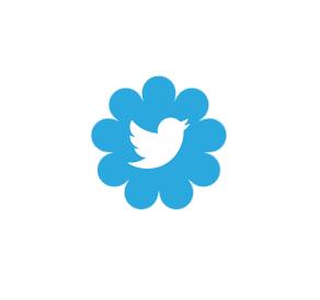 Twitter flower logo