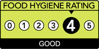 Food hygiene rating scheme score four