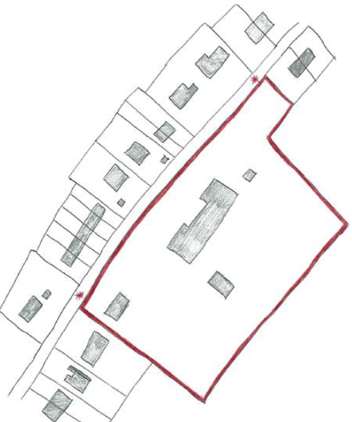 For sites with particularly long frontages, it may be necessary to erect site notices towards either end of the frontage.