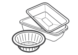 Aluminium foil / foil food trays