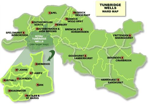 Tunbridge Wells Ward Map