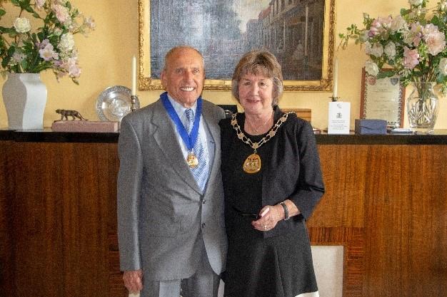 Mayor and Escort for 2020 to 2021. Cllr Joy Podbury and Mr Bob Podbury