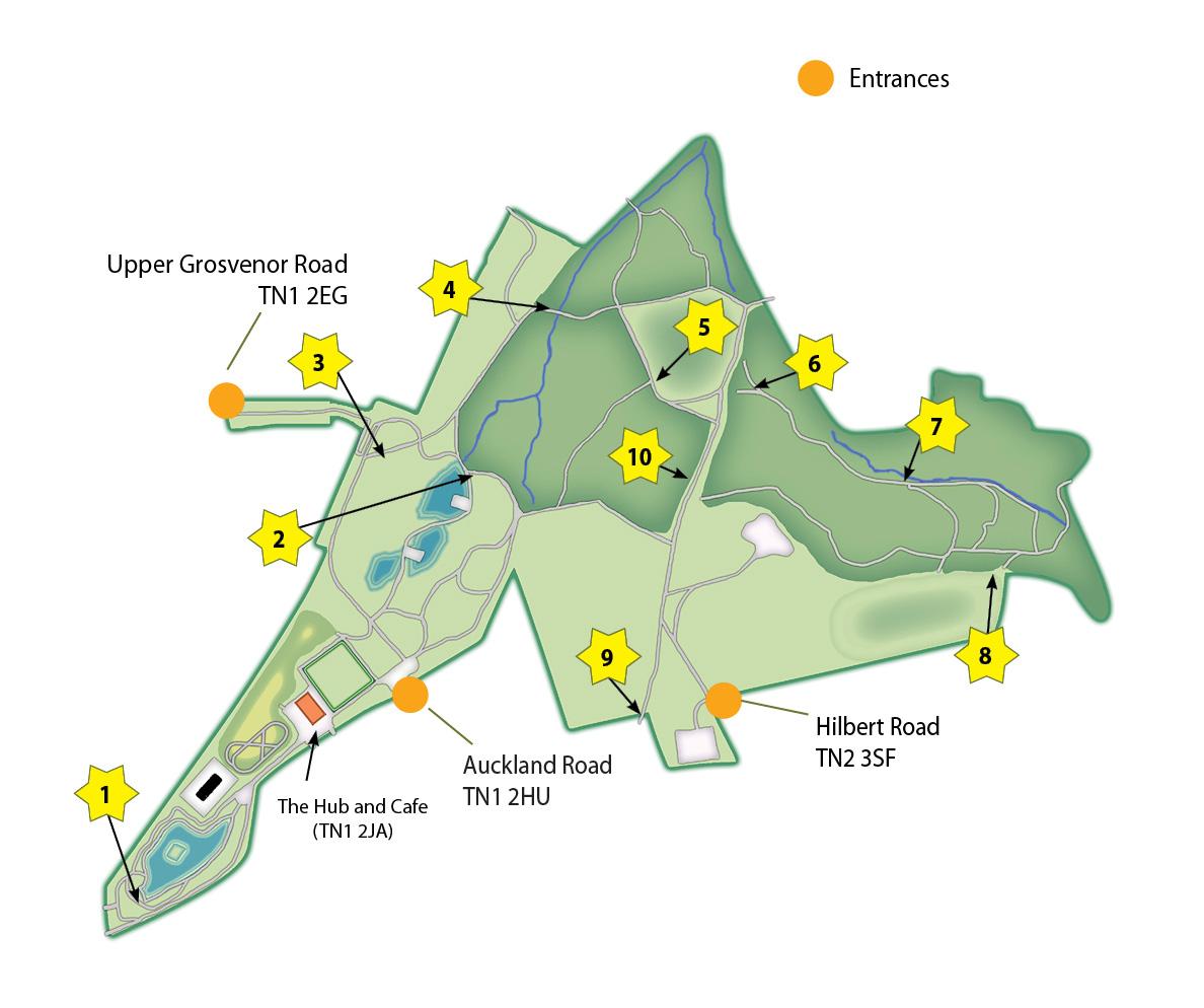 Brass rubbing trail map